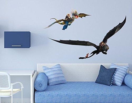 Preisvergleich Produktbild Wandtattoo Dragons Drachen-Duo B x H: 80cm x 50cm von Klebefieber®