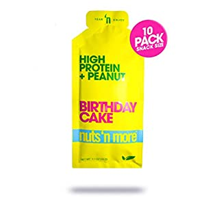 Nuts 'N More High Protein Peanut Spread (Birthday Cake, 10 Pack)