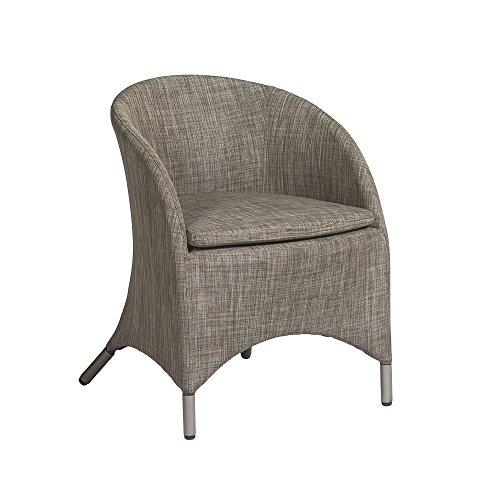 2 chaises LOTUS Textilène STONE