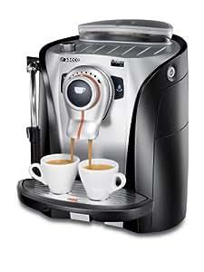 Saeco RI9752/01 Odea Go Kaffee-Vollautomat (15 bar, Dampfdüse) grau-silber