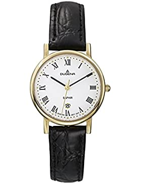 Dugena Damen-Armbanduhr Zenit - Traditional Classic Analog Quarz Leder 4460366