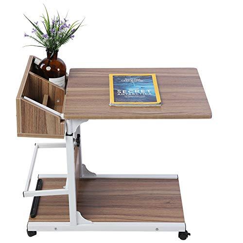 Cocoarm Computertisch Schreibtisch mit 4 Rollen Mobile Laptoptisch Pflegetisch Frühstückstisch Höhenverstellbar Bettisch PC Tisch...