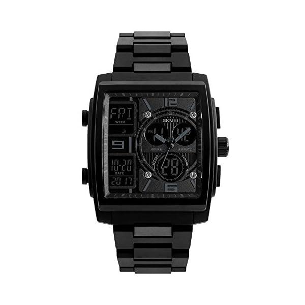 XFCS Mens Sport Watch Watwrproof EL Light Digital Wristwatches