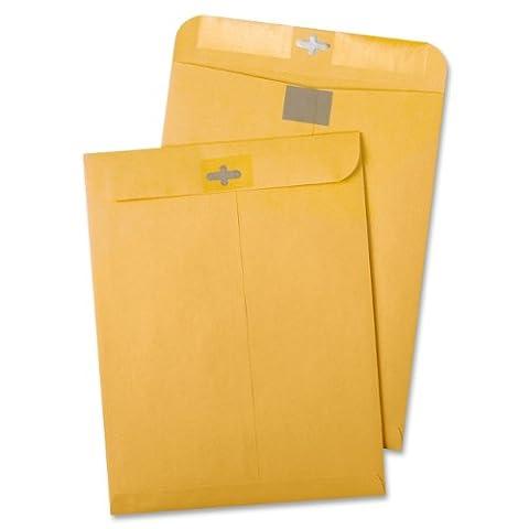 Postage Saving Clear-Clasp Kraft Envelopes, 10 x 13, Light Brown,
