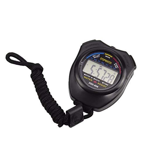 Goosuny Stoppuhr Sport Zähler LCD Digitaluhr Chronograph Fitness Armband Digital Timer Sportuhr Kilometerzähler Uhr Alarm Sportuhren Fitness Tracker Für Laufen Leichtathletik Spiel (Schwarz)