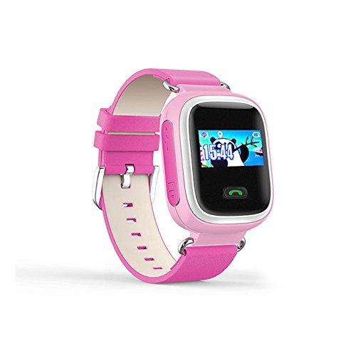 Lemumu Q60 ansehen Touch ScreenPositioning Smartwatch Kinder SOS-Anruf Location Finder Gerät Anti verloren, Rot Rosa