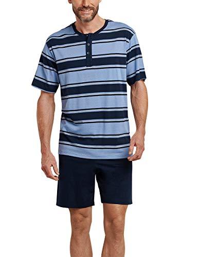 Blau-x-large Kurz (Schiesser Herren Zweiteiliger Schlafanzug Kurz, Blau (blau 800), X-Large (Herstellergröße: 054))