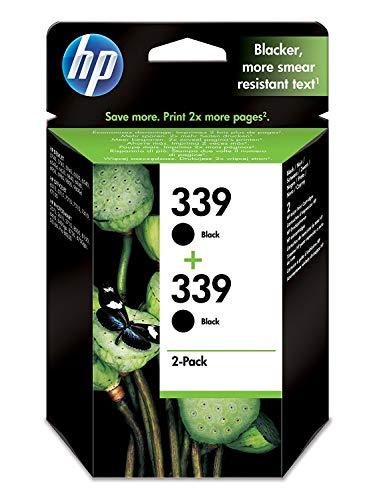 HP 339 Multipack Original Druckerpatrone (2x Schwarz) für HP Deskjet, HP Officejet, HP Photosmart (Photosmart 8750 Hp)