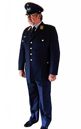 Herren Uniform Luftwaffe 5-teilig Pilot Kostüm Karneval ab Gr. 44 Blau getragen, Größe:52