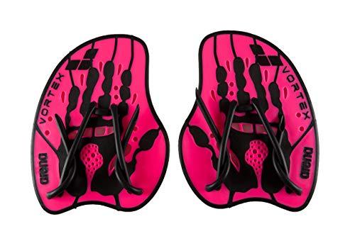 arena Unisex Schwimm Wettkampf Trainingshilfe Hand Paddle Vortex (Ergonomisch, Für Kraft- und Techniktraining), Pink-Black (95), M