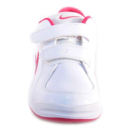 Nike - Nike Pico 4 (PSV) Scarpe Bambina Bianche Pelle Strappi Velcro 454477 Blanc