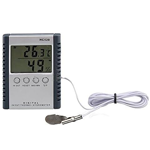 Dans/extérieur numérique Thermomètre Hygromètre Température Humidité Mètre voiture précis