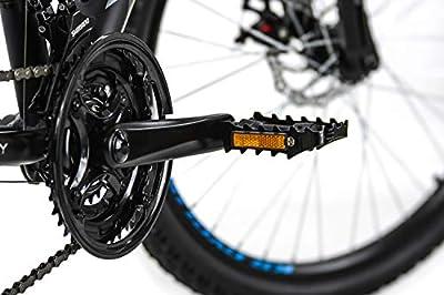 KS Cycling Unisex- Erwachsene Mountainbike Xceed Schwarz, 48 cm