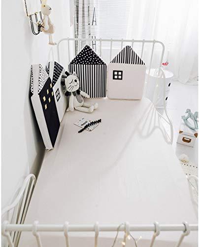 LY-LD Baby Bed Bumper Sets von 4-Piece, kleines Haus Form Soft Breathable Cotton Kissen Krippenschutz-Kinderzimmer Home Dekoration,B