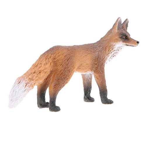 Homyl Juguete de Simulación Figurilla de Animales en Miniatura Colecciones Juego Educatiivo para Niños - Zorro