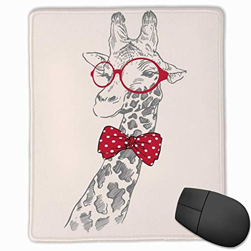 Cute Animals Rectangle Non-Slip Rubber Mouse Pad with Stitched Edges