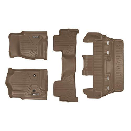 maxliner-custom-fit-third-row-floor-mat-set-for-select-chevrolet-tahoe-gmc-yukon-models-tan-by-maxli