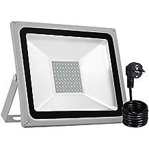 10-100Watt LED Fluter Flutlicht IP65 Außenleuchte Außen Garten Fassadenstrahler