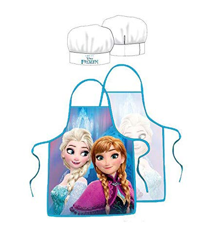 Frozen Grembiule e cappello da chef cuoco - Set da Cucina per Bambini 3/8 anni