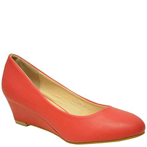 Cucu Fashion - Sandali con Zeppa donna Rosso (rosso)