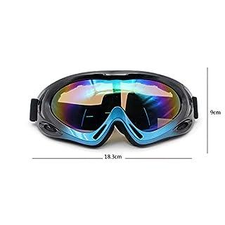 Coniea Motorradbrille Antibeschlag PC Radsportbrille Herren Schutz Brille Lila