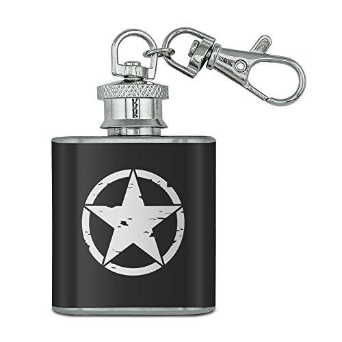 Mission-kette (Oscar Mike auf Mission Move Vintage Military Star Unzen Edelstahl Mini Fläschchen Schlüssel Kette)