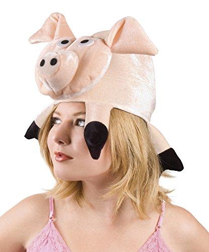 erdbeerclown- Kopfmaske Tierparade Kostüm , (Rosa Kostüm Für Bunny Hunde)