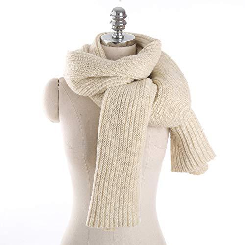 GAOQQ Wolle Schals Für Frauen, Mode Stricken Solid Color Warme Student/Paar Schal,Beige (Paar Cardigan)