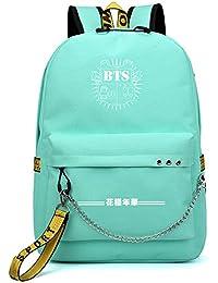 Haililais Mochila de Mujer BTS Mochilas Escolares Mochila de Viaje Bolsa de Senderismo Mochila Casual con USB Puerto de Carga