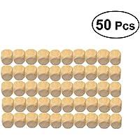 Healifty DIY Juego de Dados de Madera para Hacer Rompecabezas de Manualidades 16MM 50 Piezas