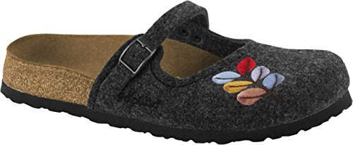 Birkenstock , Chaussons pour femme Anthracite
