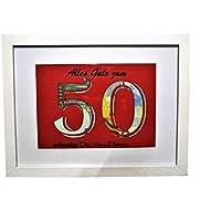 Geldgeschenk zum 50. Geburtstag (Farbe wählbar), Geldverpackung
