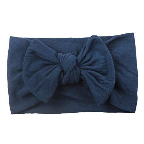 Mitlfuny Unisex Baby Kinder Jungen Zubehör Säuglingspflege,Mädchen Baby Kleinkind Turban Feste Stirnband Haarband Bow Zubehör Headwear -