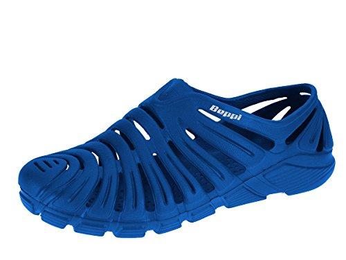 Beppi Herren Wasserschuhe Badeschuhe Strandschuhe Gartenschuhe Clogs Blau
