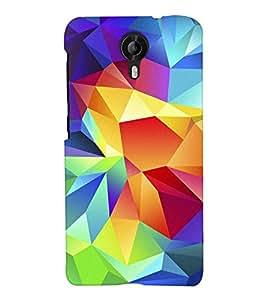 Chiraiyaa Designer Printed Premium Back Cover Case for Micromax Canvas Nitro 4G E455 (Colorful prism pattern) (Multicolor)