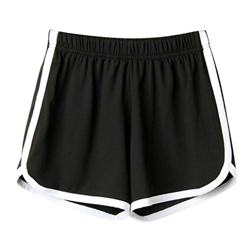 UFACE Damen Sport Shorts Shorts Mode Frauen Dame Sommer Sport Shorts Strand Kurze Hosen (XL/(44), Schwarz)