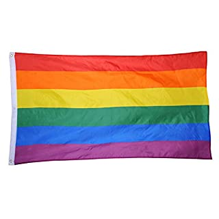 Rainbow Flag 5x3ft/150x90cm Flags Lesbian Gay Parade Flags LGBT Flag
