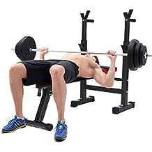 mymotto Multifuncional Hantelbank altura ajustable profesional pesas profesionales Fitness doblado uso en el hogar