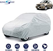Kingsway Dust Proof Car Body Cover for Maruti Suzuki Alto (Model Year : 2000-2012) (Silver Matty, Triple Stitc