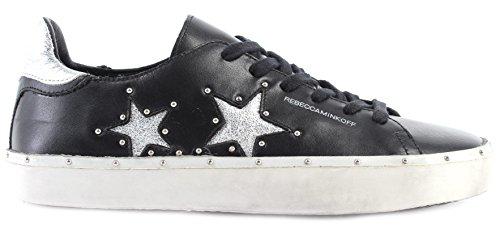 Rebecca Minkoff Chaussure Femme Sneakers RMMILT12 BKSV Michell Cui Noir Nouveau