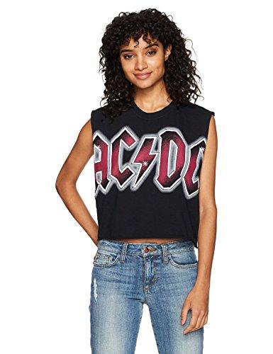 Goodie Two Sleeves Damen ACDC Color Glow DIY Black Tank T-Shirt, schwarz, X-Groß