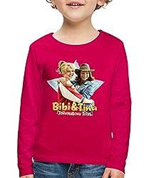 Bibi Und TinaTohuwabohu Total Freundinnen Kinder Premium Langarmshirt, 110/116 (4 Jahre), Dunkles Pink