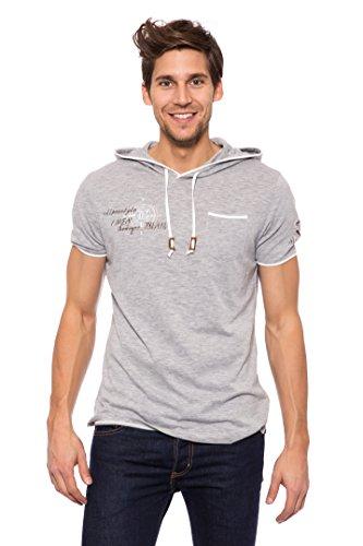 Krüger Herren T-Shirt mit Kapuze Alpenstyle (S, grau)