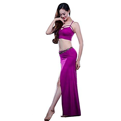 frauen indien bauchtanz praxis kleidung moderne kreuzgurte weste rock sicherheit hosen leistung kostüm . purple . one size (One Night Stand Kostüm Mädchen)