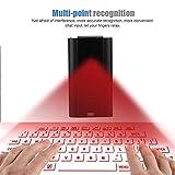 ZUEN Laser Bluetooth Tastiera Senza Fili di Proiezione Virtuale Vintage Rotonda Layout di Tastiera con Il Vivavoce Funzione Adatto per Smart Phone Tablet PC