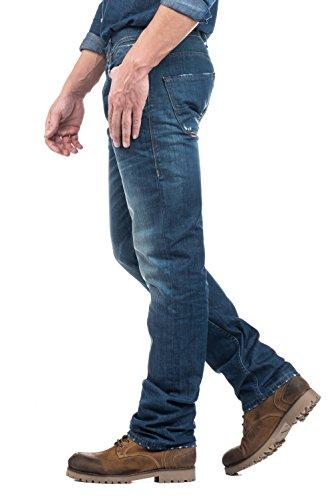 Salsa - Jeans Navarro, gerades Bein, mit Destroyed-Stellen - Herren Grün
