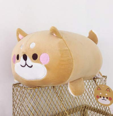 HULIN Cute Little Yellow Chicken Figurine Shiba Inu Doll Plush Toy Boys and Girls Creative Holding Sleeping Cloth Doll 35Cm 1Pcs Dog (Faces Doll Creative Cloth)
