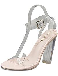Modaworld scarpe ☀️Fashion Scarpe col Tacco,elegeanti Scarpe da Donna  Stivaletti Zeppa Trasparente Scarpe 66e2b01b4ea