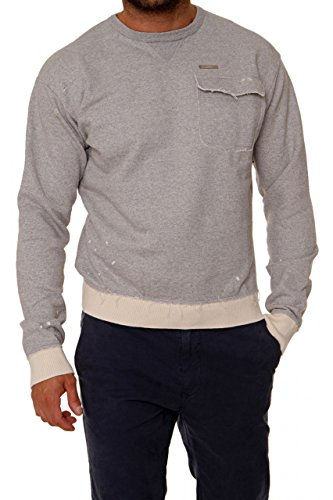 Dsquared² Herren Pullover Sweatshirt , Farbe: Hellgrau Hellgrau
