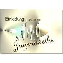 DigitalOase Einladungskarten Jugendweihe Jugendweihekarten 2 Klappkarten 2  Kuverts Format DIN A6 #CRYSTAL